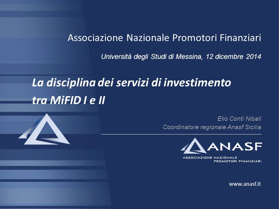 La disciplina dei servizi di investimento tra MiFID I e II