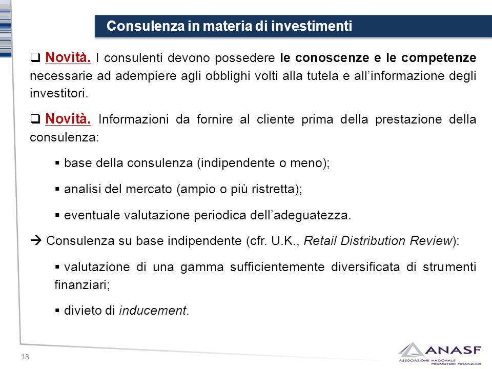 Consulenza in materia di investimenti