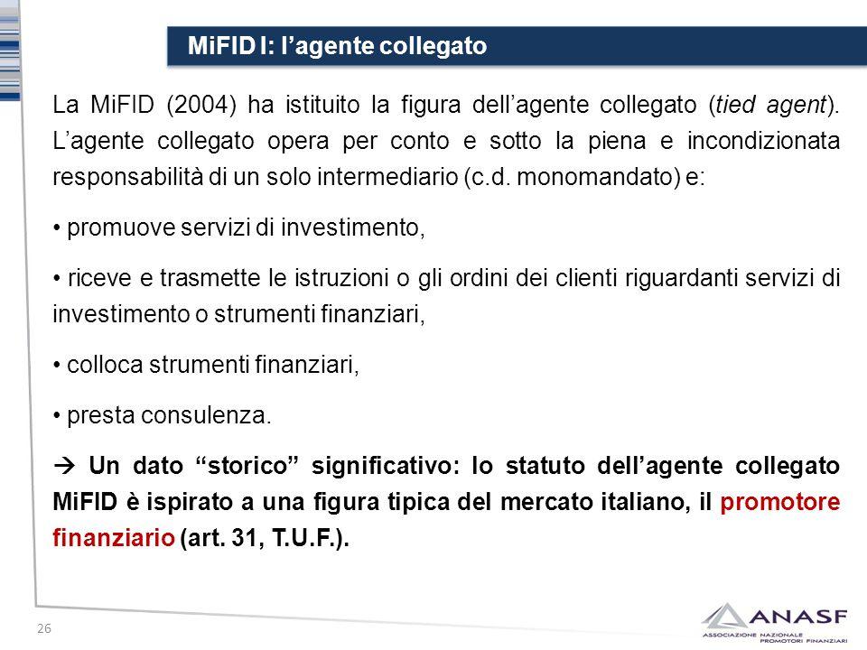 MiFID I: l'agente collegato