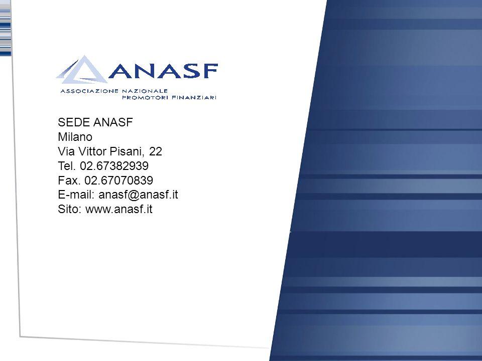 SEDE ANASF Milano Via Vittor Pisani, 22 Tel. 02. 67382939 Fax. 02