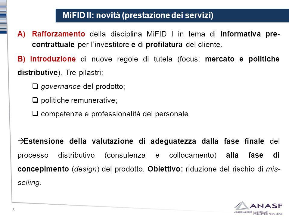 MiFID II: novità (prestazione dei servizi)