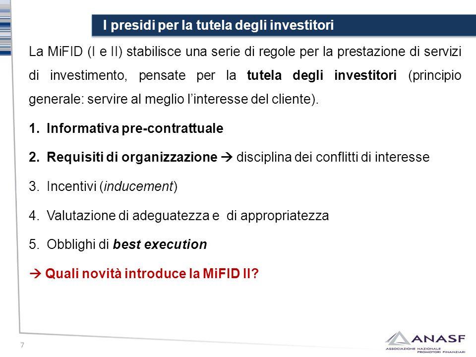 I presidi per la tutela degli investitori