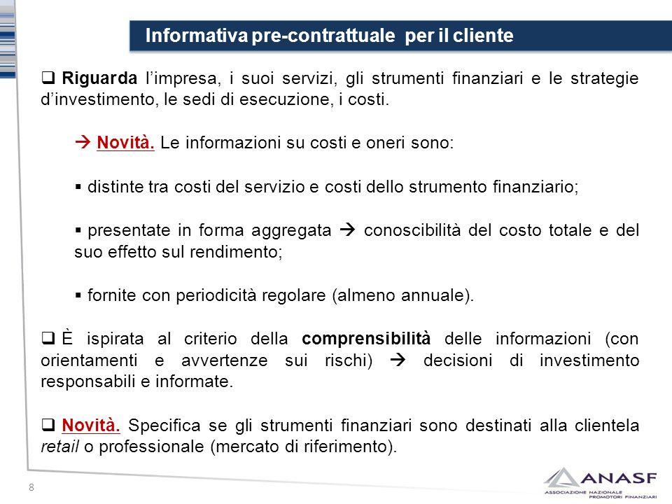 Informativa pre-contrattuale per il cliente