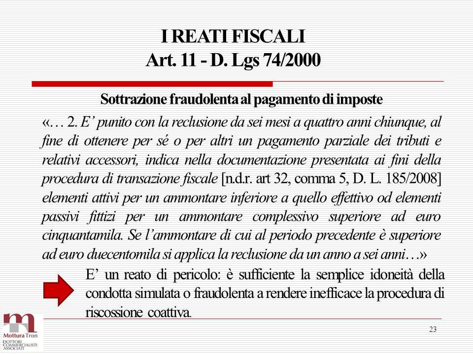 Sottrazione fraudolenta al pagamento di imposte
