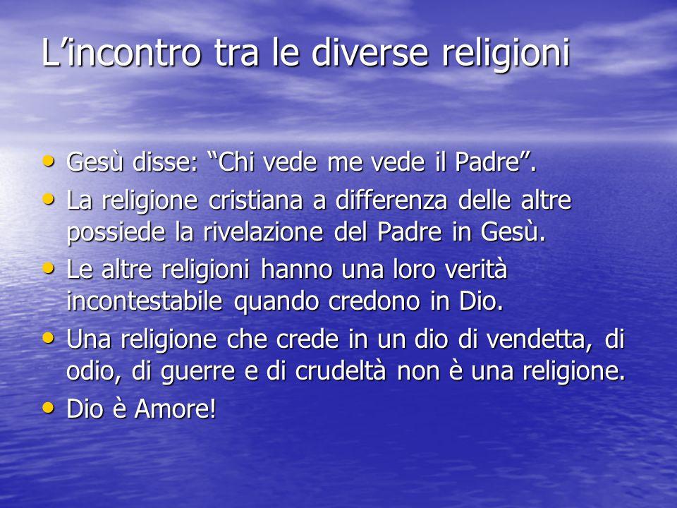 L'incontro tra le diverse religioni