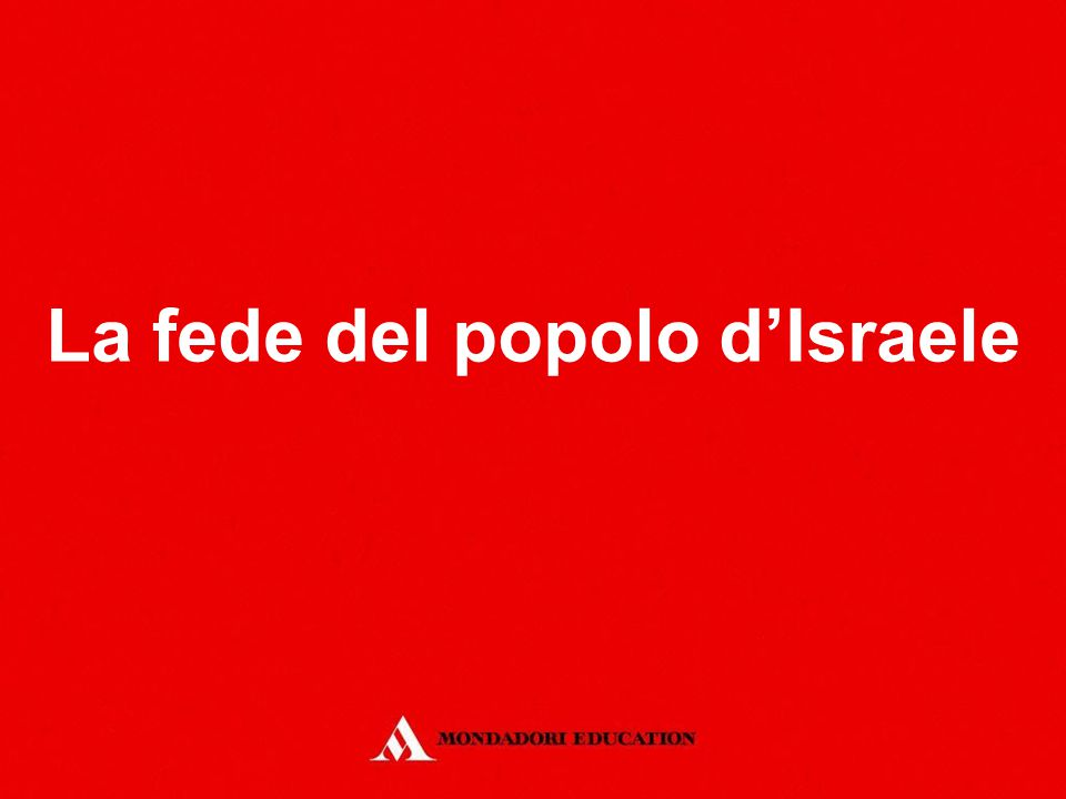 La fede del popolo d'Israele