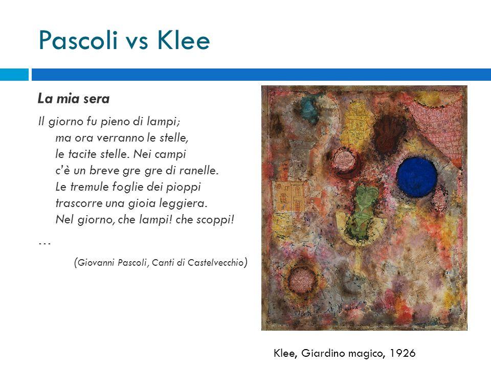 Pascoli vs Klee La mia sera