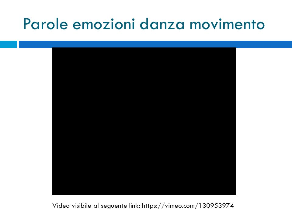 Parole emozioni danza movimento