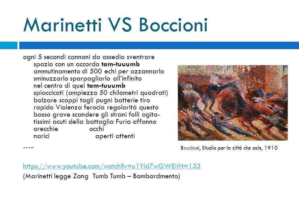Marinetti VS Boccioni