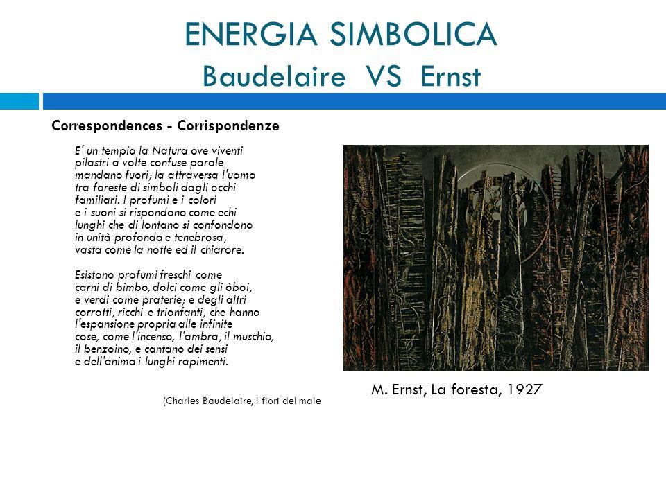 ENERGIA SIMBOLICA Baudelaire VS Ernst