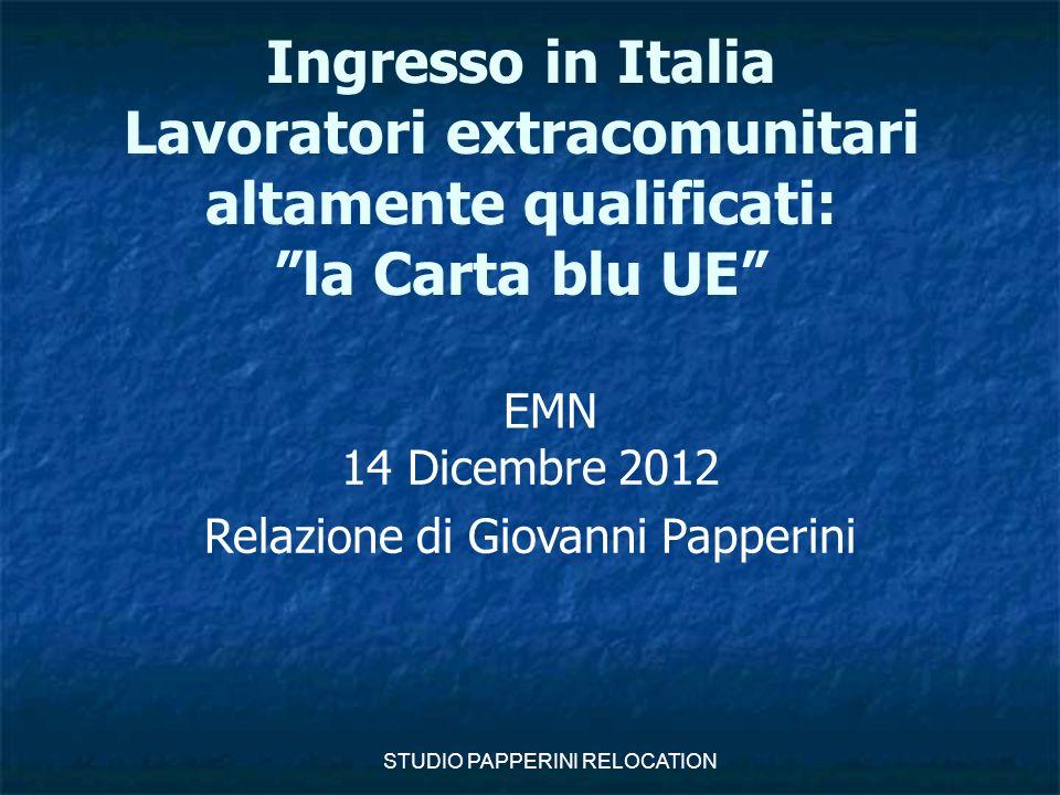 Relazione di Giovanni Papperini
