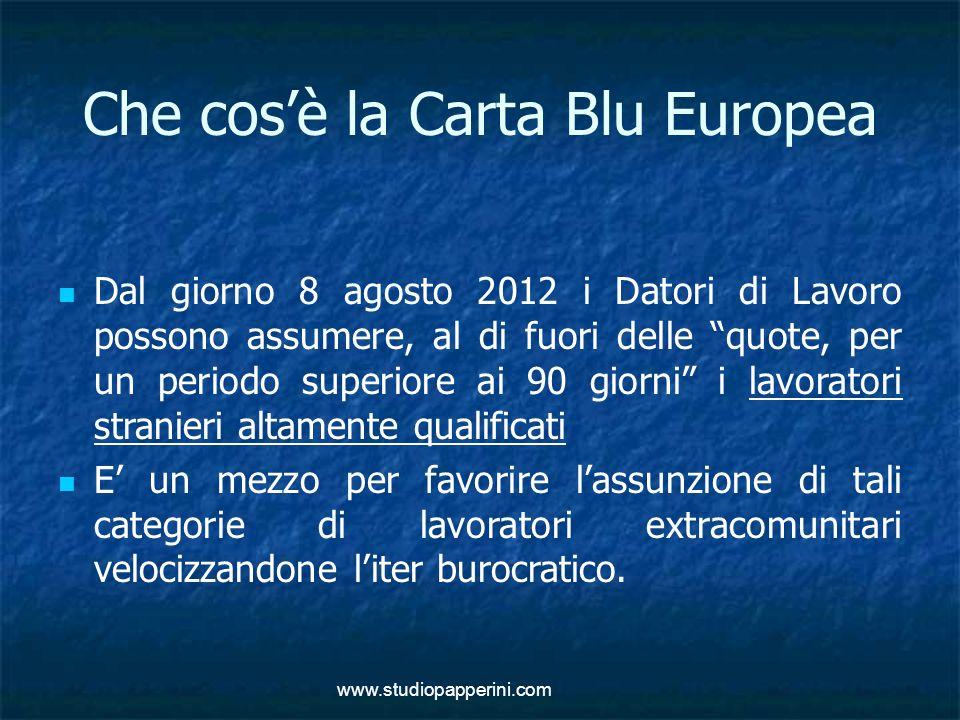Che cos'è la Carta Blu Europea