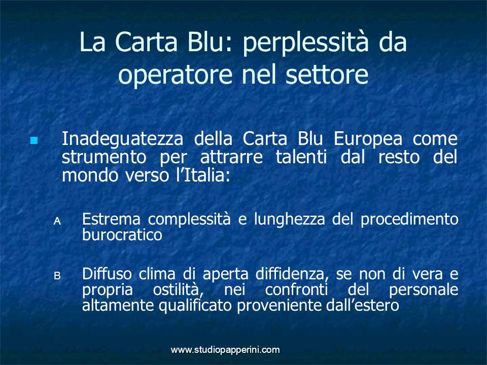 La Carta Blu: perplessità da operatore nel settore