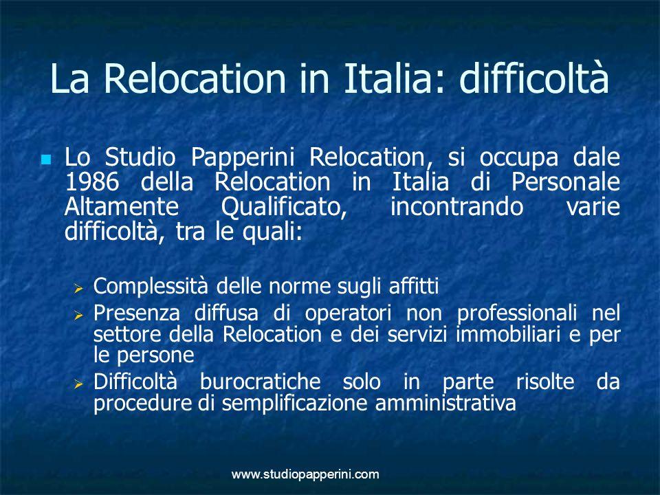 La Relocation in Italia: difficoltà