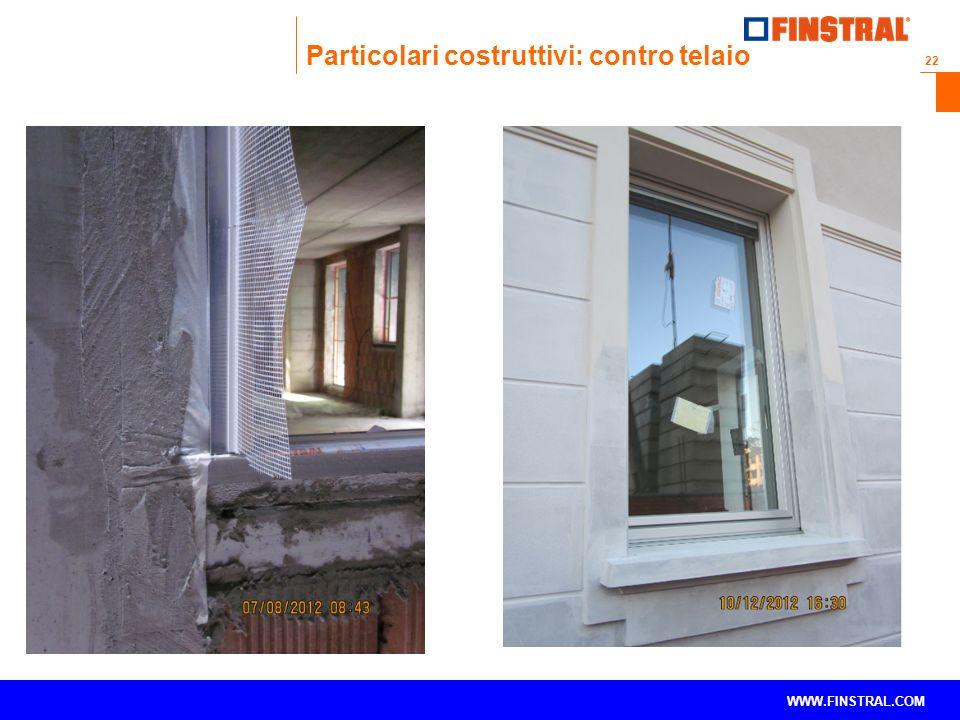 Particolari costruttivi: contro telaio