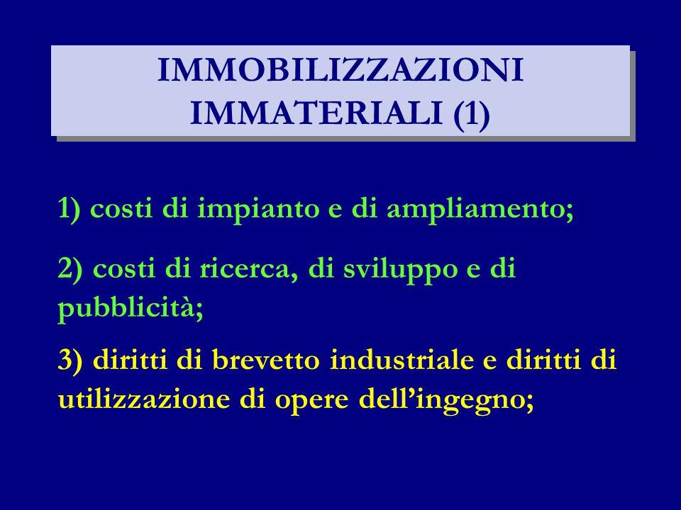 IMMOBILIZZAZIONI IMMATERIALI (1)