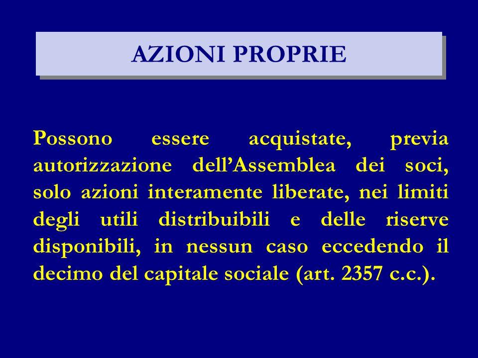 AZIONI PROPRIE