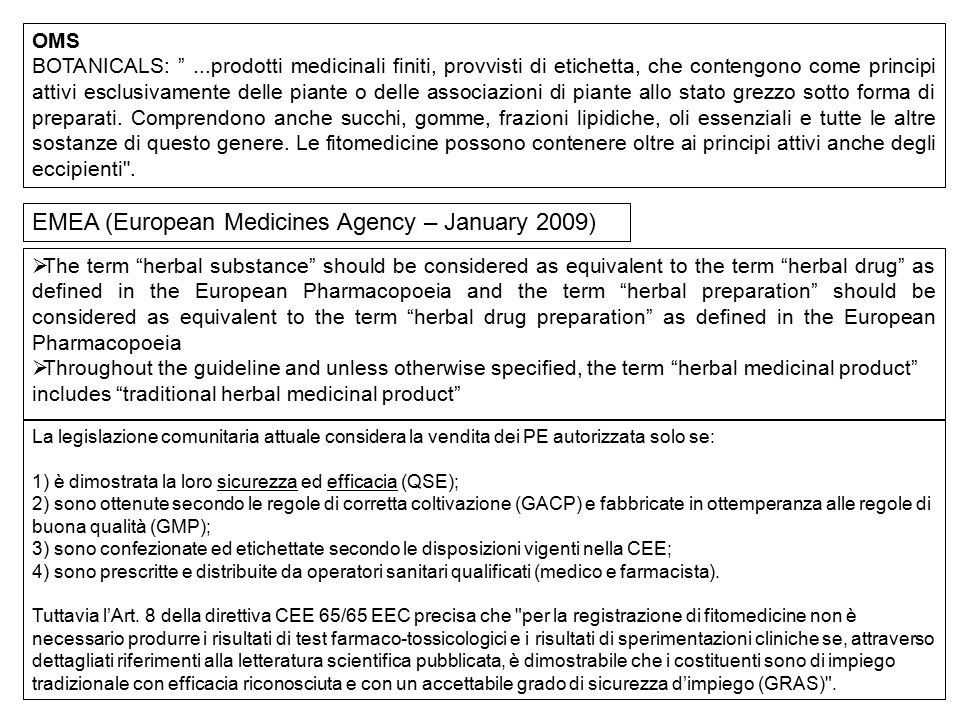 EMEA (European Medicines Agency – January 2009)