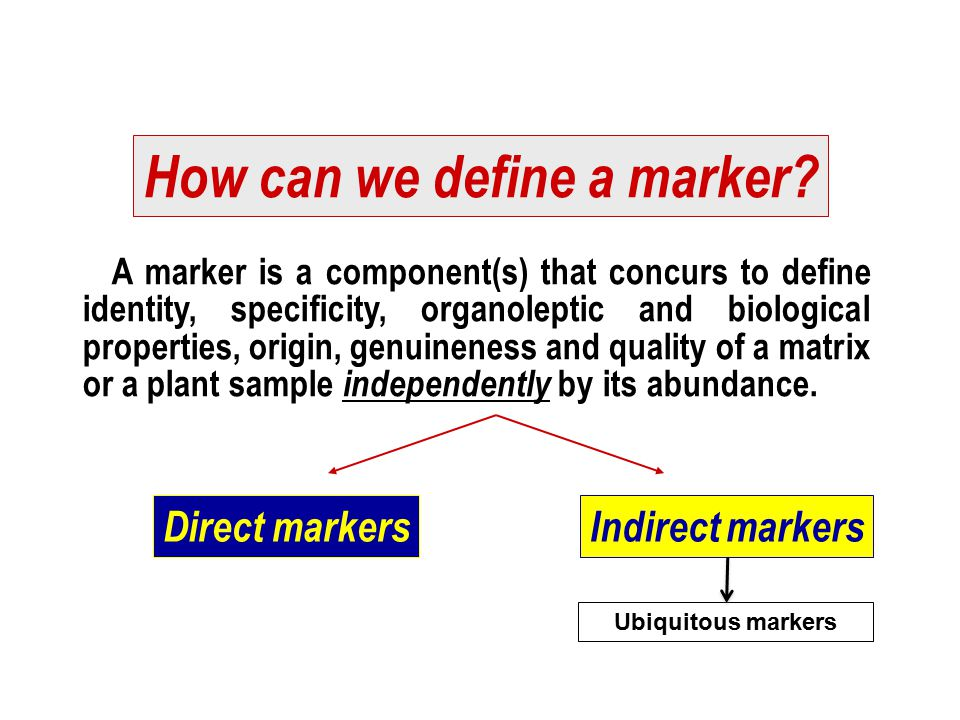How can we define a marker
