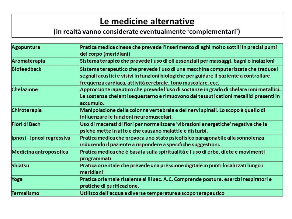 Le medicine alternative