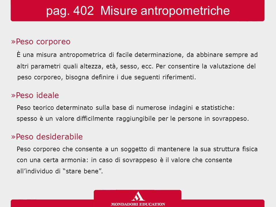pag. 402 Misure antropometriche