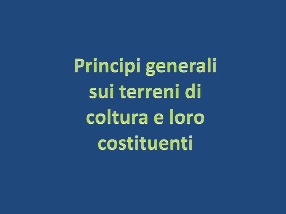Principi generali sui terreni di coltura e loro costituenti