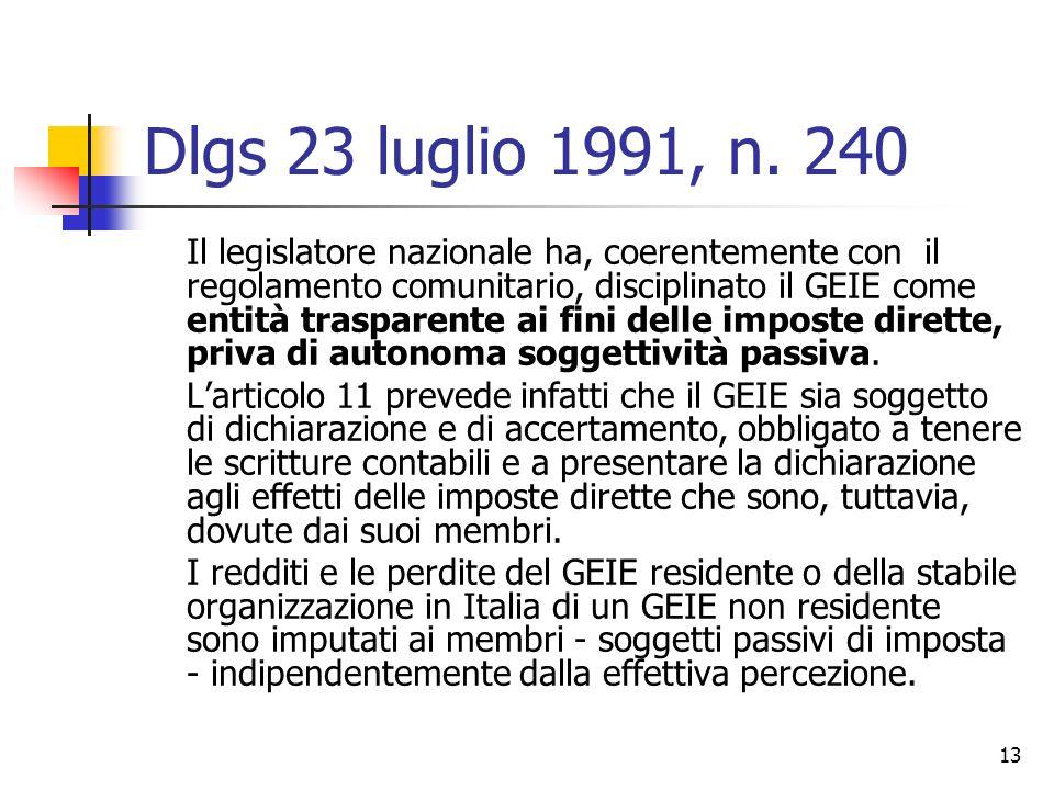Dlgs 23 luglio 1991, n. 240