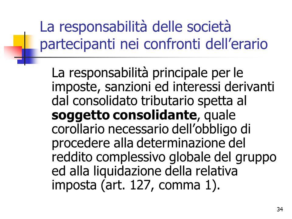 La responsabilità delle società partecipanti nei confronti dell'erario
