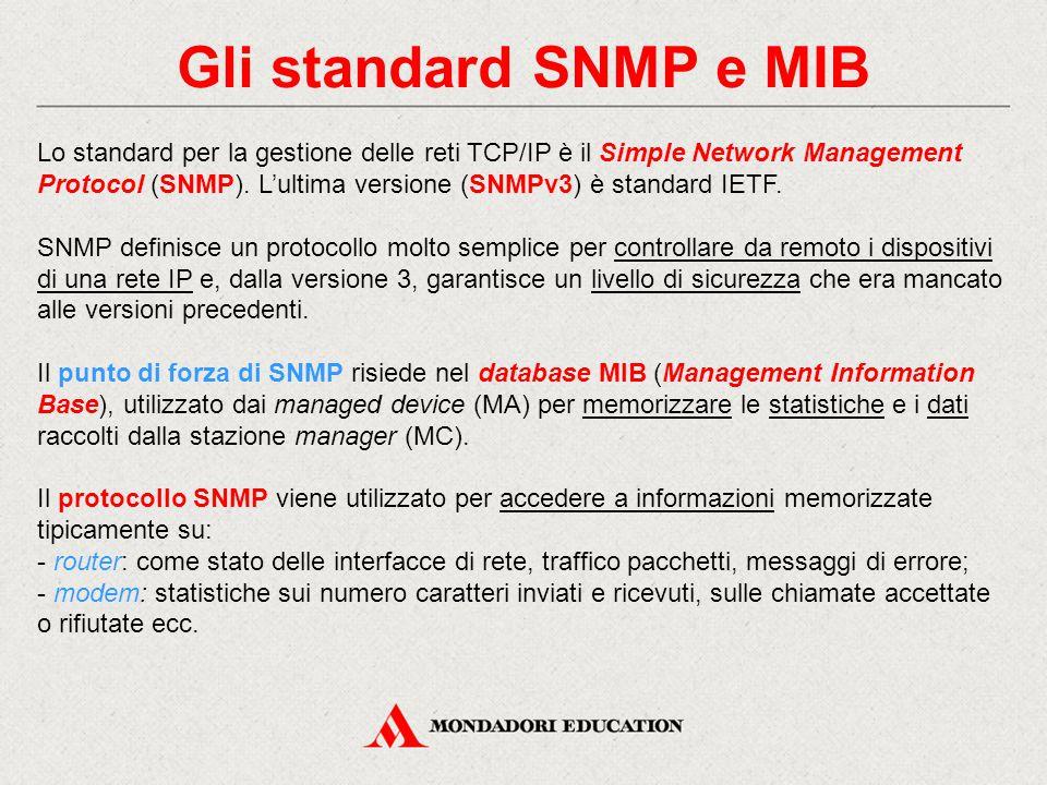 Gli standard SNMP e MIB