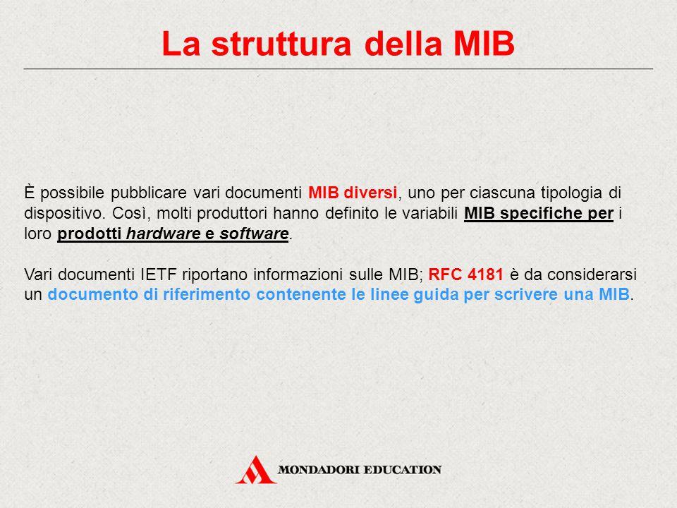 La struttura della MIB