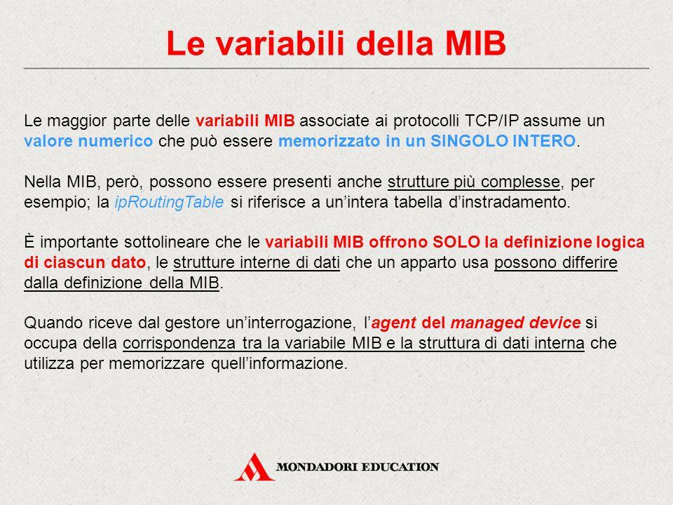 Le variabili della MIB