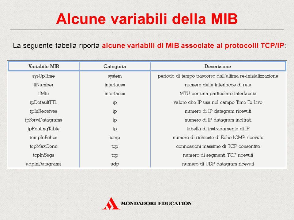 Alcune variabili della MIB