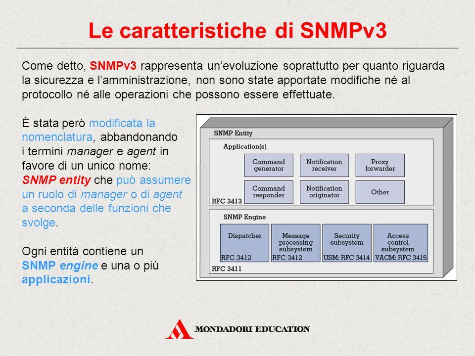 Le caratteristiche di SNMPv3