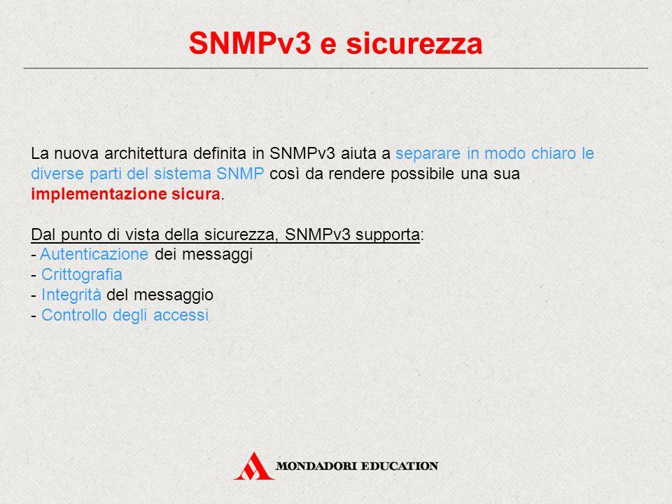 SNMPv3 e sicurezza