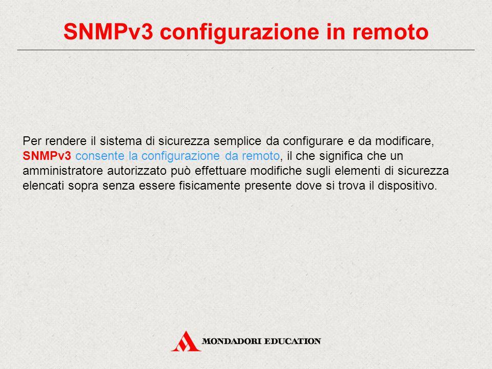 SNMPv3 configurazione in remoto