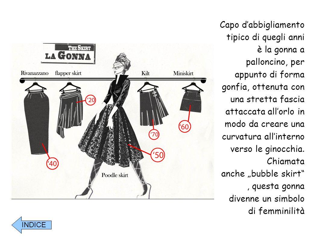 """anche """"bubble skirt , questa gonna divenne un simbolo di femminilità"""