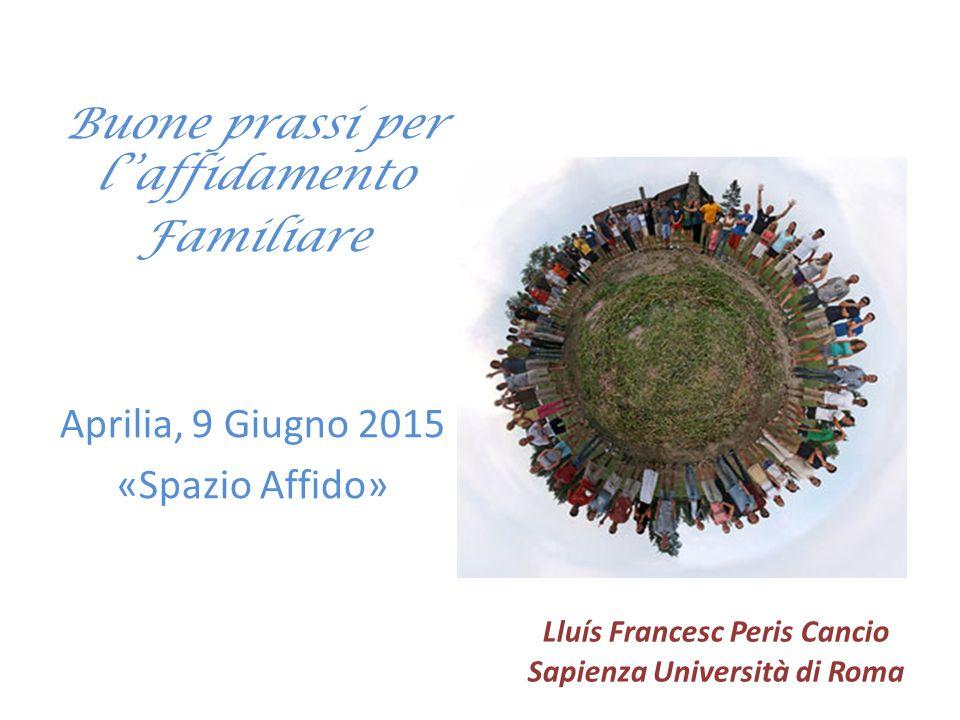 Lluís Francesc Peris Cancio Sapienza Università di Roma