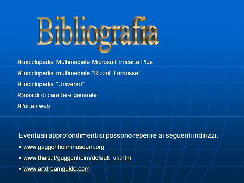 Bibliografia Enciclopedia Multimediale Microsoft Encarta Plus. Enciclopedia multimediale Rizzoli Larousse
