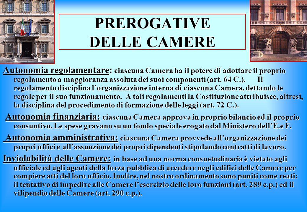 PREROGATIVE DELLE CAMERE