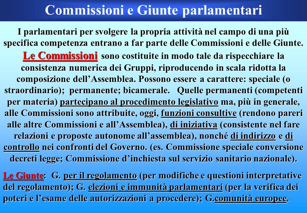 Commissioni e Giunte parlamentari