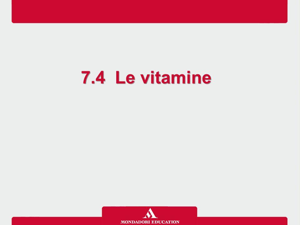 7.4 Le vitamine