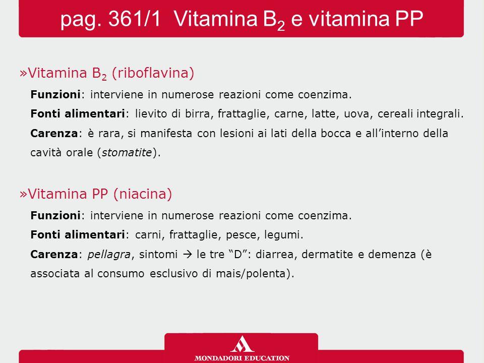 pag. 361/1 Vitamina B2 e vitamina PP