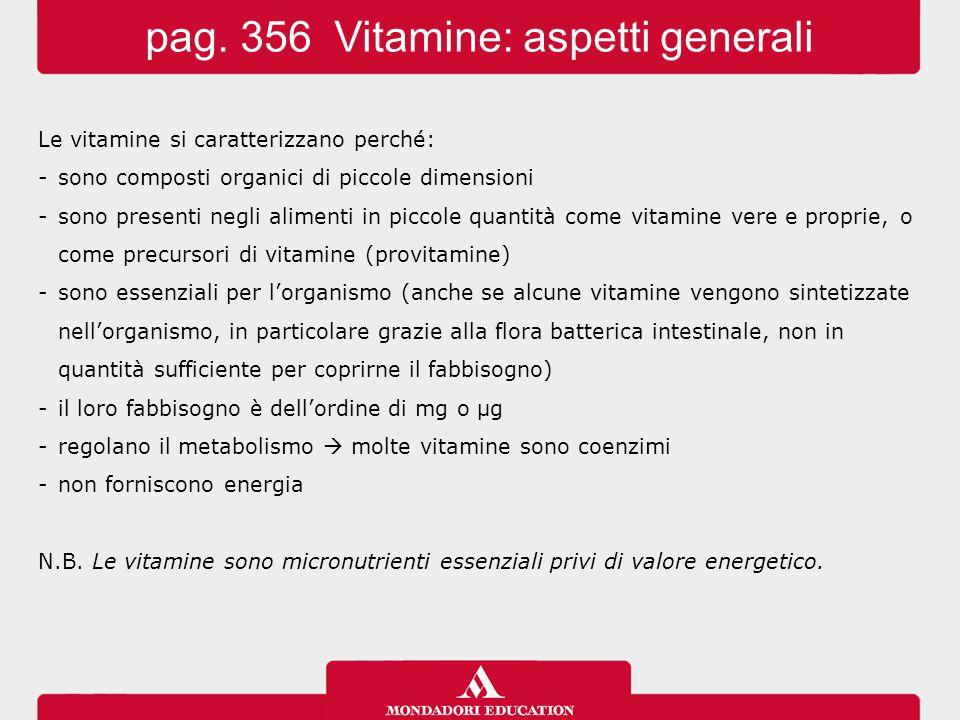 pag. 356 Vitamine: aspetti generali
