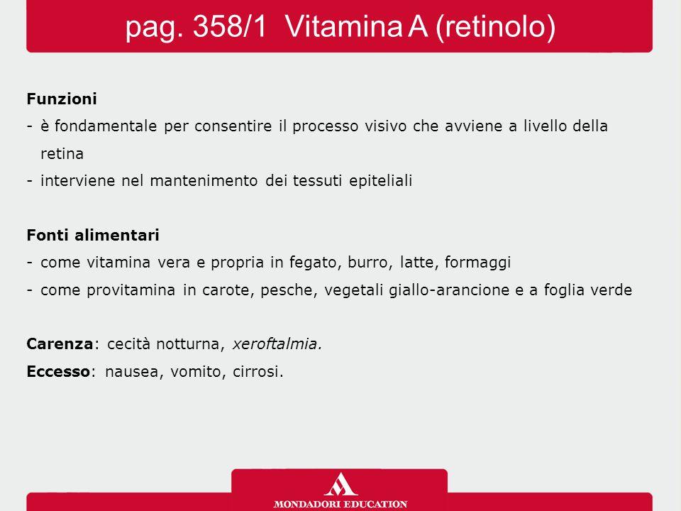 pag. 358/1 Vitamina A (retinolo)
