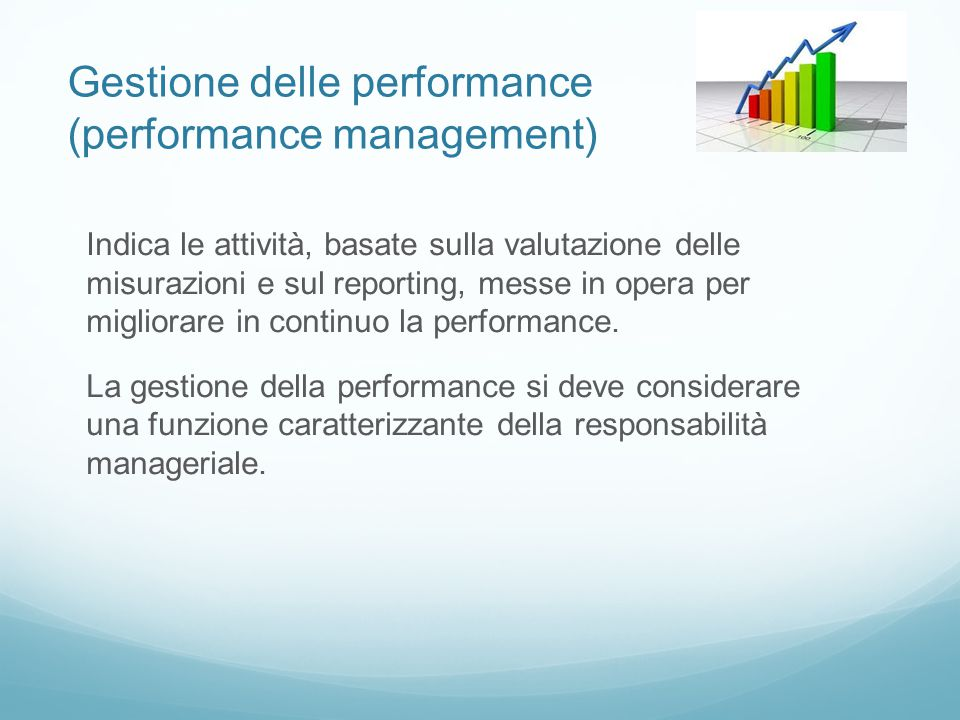 Gestione delle performance (performance management)