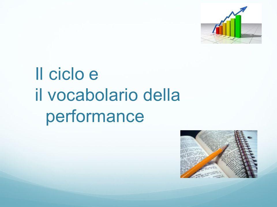 Il ciclo e il vocabolario della performance