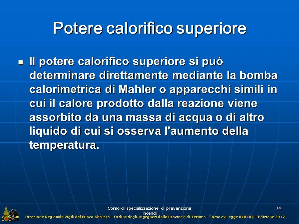 Potere calorifico superiore