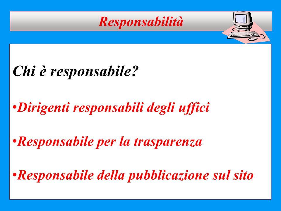 Chi è responsabile Responsabilità Dirigenti responsabili degli uffici