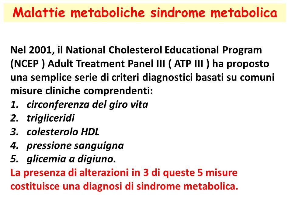 Malattie metaboliche sindrome metabolica