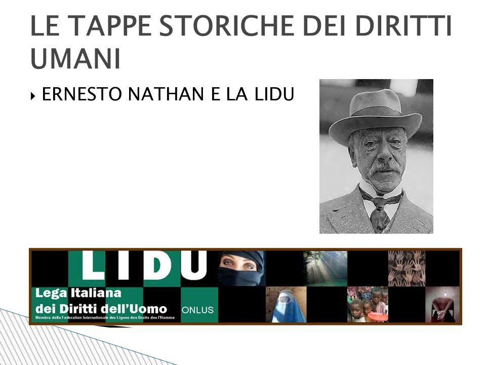 LE TAPPE STORICHE DEI DIRITTI UMANI